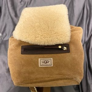 Handbags - UGG Suede & Fur Backpack